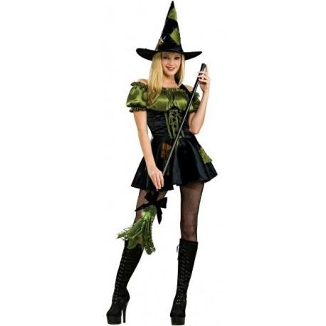 Déguisement sorcière femme green patch