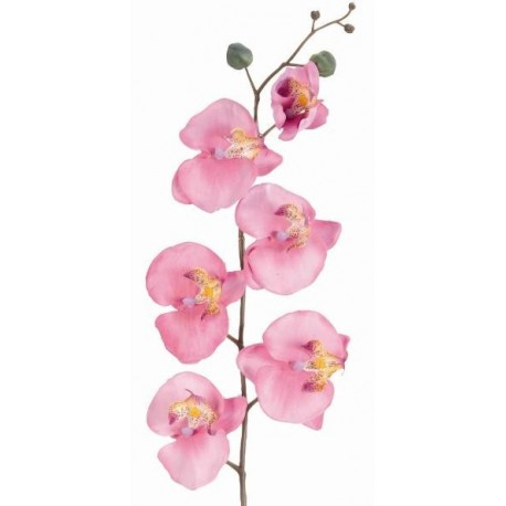 Orchidée phalaenopsis rose artificielle 70 cm