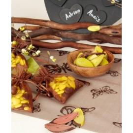 Languettes de bois couleur festive 5 cm
