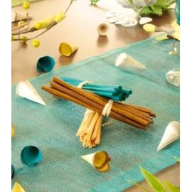 Fagots en bois decoratifs de couleur les 4