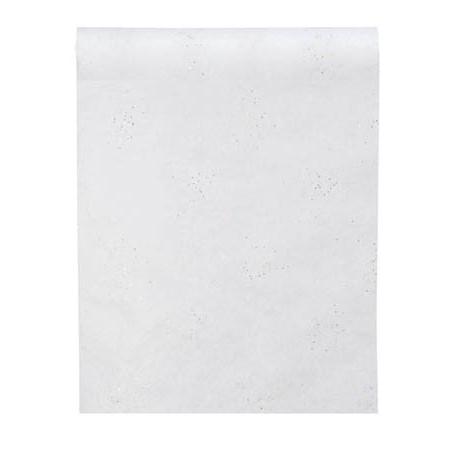 Chemin de table diamant intisse blanc