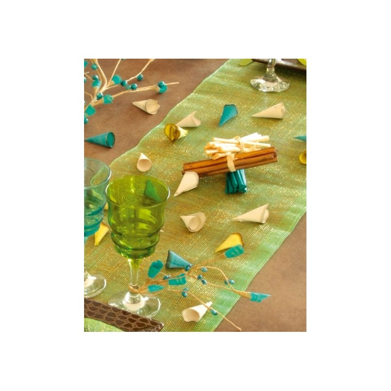 Chemin de table sinamay paillet en 8 couleurs for Chemin de table plastique