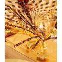 Centre de Table Branche Strass Métallisée Festive 72 cm