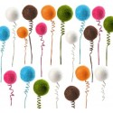 Tiges Boule Festive Sur Ressort les 6