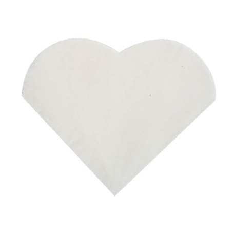 Petites serviettes de table coeur blanc les 20