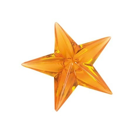 Etoile orange deco festive