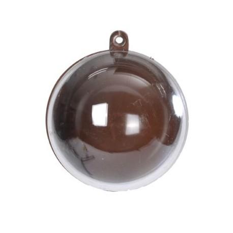 Boule Transparente et Chocolat 5 cm