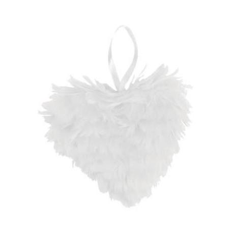 Coeur plume en plumes Blanche