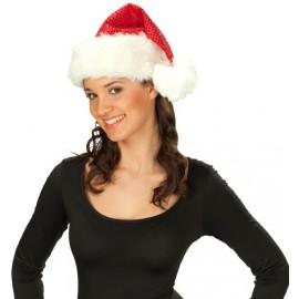 Bonnet Noël Rouge A Sequins Adulte