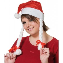 Bonnet Mère Noël Avec Nattes