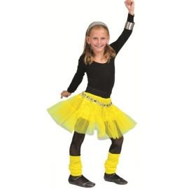 Déguisement jupe tulle jaune fille