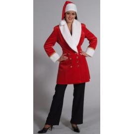 Déguisement Santa Lady Veste Deluxe et Bonnet de Noël Femme