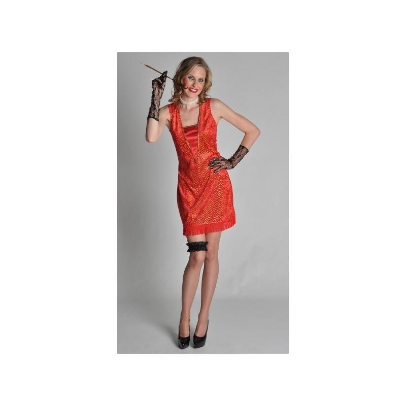 deguisement charleston femme robe rouge annee 20 30. Black Bedroom Furniture Sets. Home Design Ideas