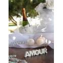 Mot Amour En Bois Pailleté Décoration de Table