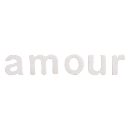 Lettres Amour Blanches