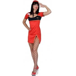 Deguisement Hotesse de L Air Rouge Sexy Femme
