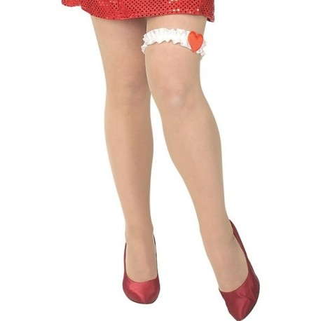 Jarretière Betty Boop Blanche Femme