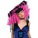 Perruque Bouclée Curly Locks Noire et Pink Femme