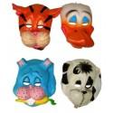 Masque Animal Enfant Vinyle Souple 4 Modèles d'Animaux