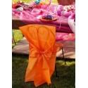 Housses de Chaise Intissé Orange et Noeuds les 10