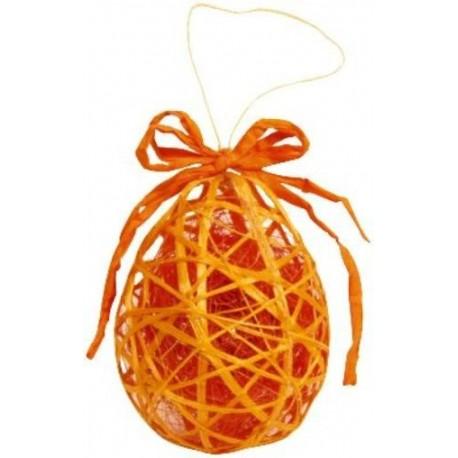 oeuf en sisal orange decoration