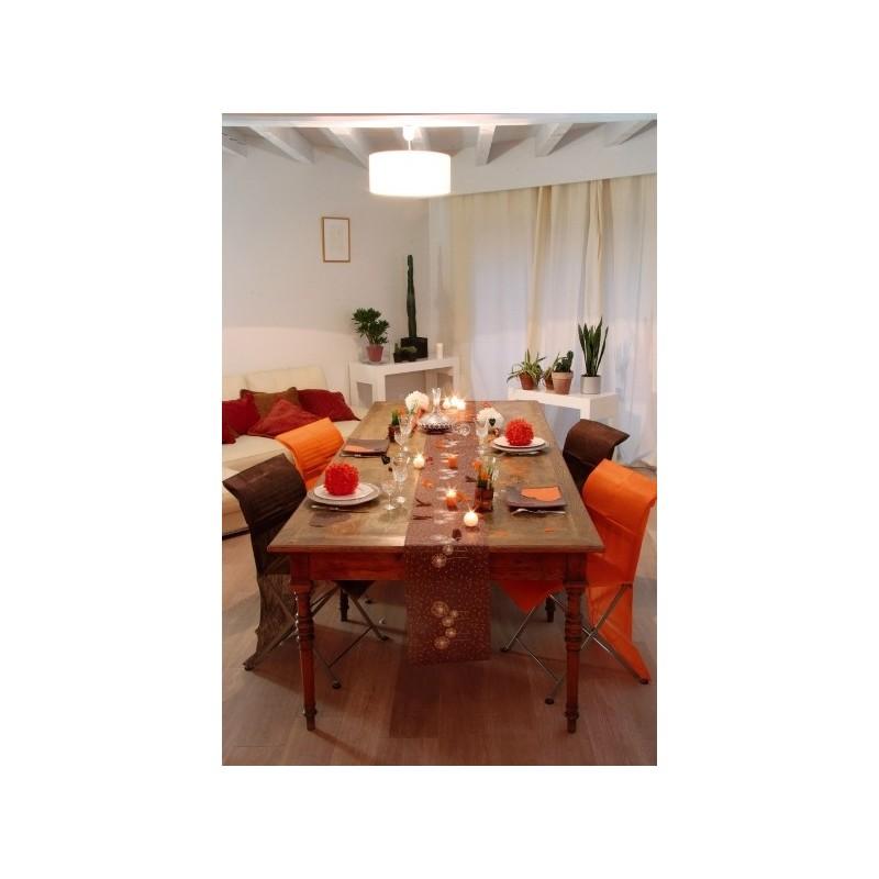 chemin de table fleurs intiss 4 couleurs. Black Bedroom Furniture Sets. Home Design Ideas