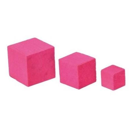 Cube en bois fuschia de decoration