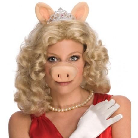 Perruque miss piggy the muppets le muppet show femme