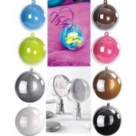 Boule transparente en couleur 5 cm