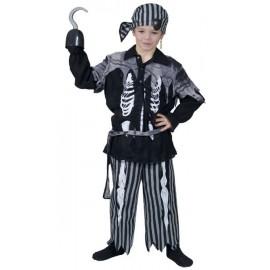 Déguisement pirate squelette garçon