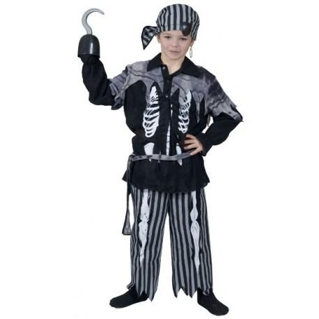 Deguisement pirate squelette enfant garcon
