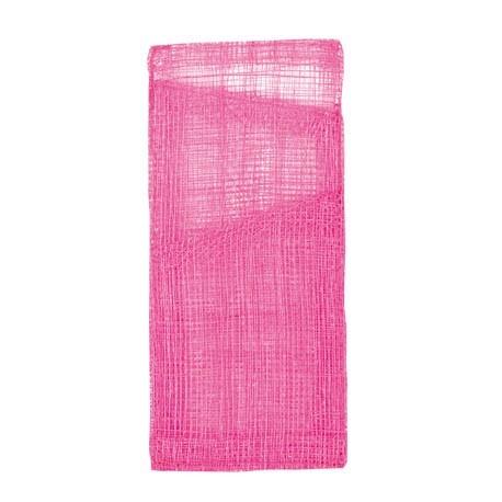 Pochette sinamay fuschia a couverts et serviette