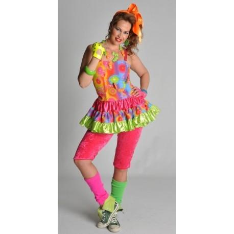 D guisement disco freak robe ann es 80 femme - Deguisement femme annee 70 ...
