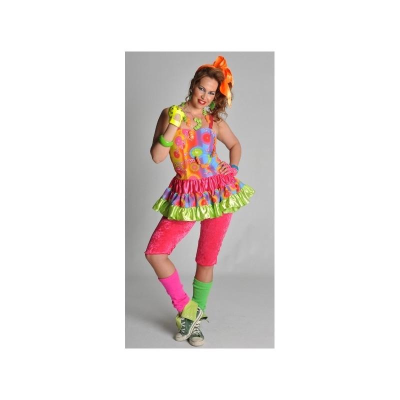 D guisement disco freak robe ann es 80 femme - Deguisement des annees 80 ...