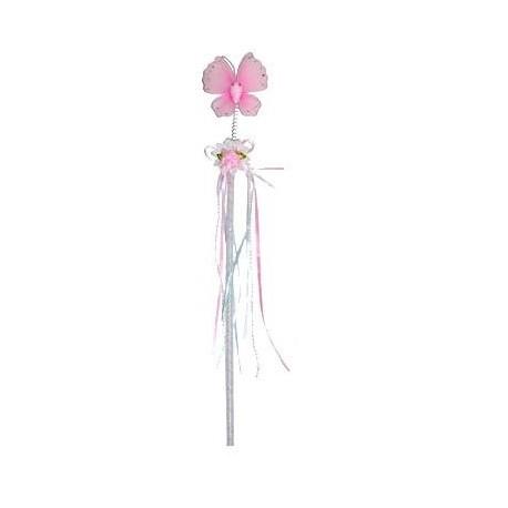 Baguette de fee papillon rose enfant