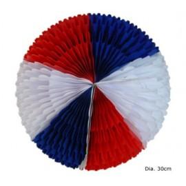 Décoration Boule Bleu Blanc Rouge en Papier 30 cm