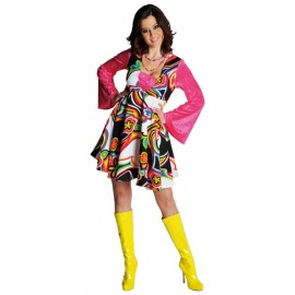 Deguisement robe baby doll fantasy annees 60 s 70 s