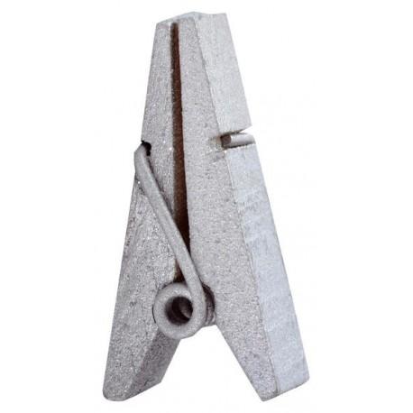 Pince pyramide bois argent x12