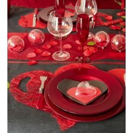 Set de table coeur abaca couleur forme coeur les 4