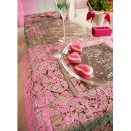Chemin de table sisal decoration de table festive