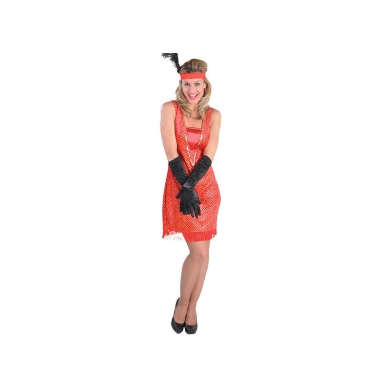 Deguisement charleston femme robe rouge annee 20 30 - Robe charleston annee 20 ...