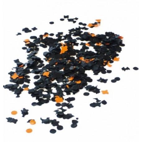 Confettis orange et noir en papier 450 gr