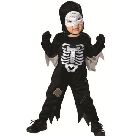 Déguisement Squelette Halloween Bébé Garçon avec son