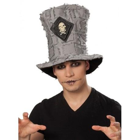 Chapeau haut de forme squelette homme