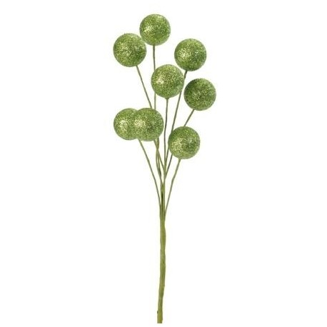 Piquet boule pailletee vert