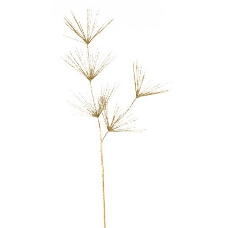 Branche pinus pin or pailletee deco