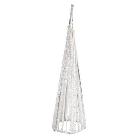 Petit Cone Paillete Blanc Deco Festive les 4