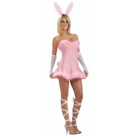 Déguisement Bunny lapin rose femme sexy