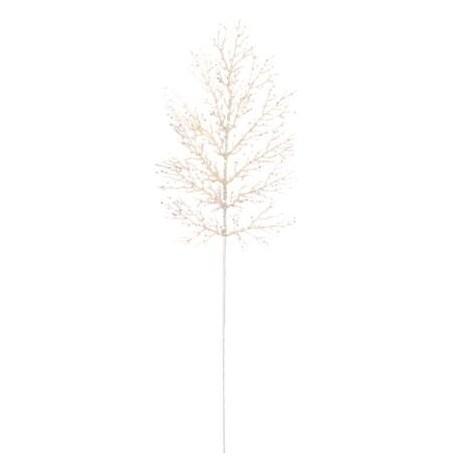 Feuille de fougere blanche pailletee de decoration