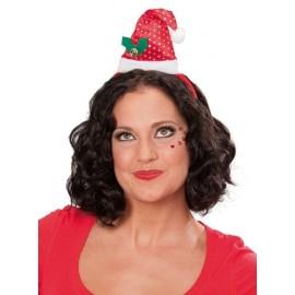 Serre Tête Bonnet de Noël A Sequin Adulte et Enfant